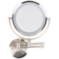 Conair Be11wd Wall Mount Mirror Lighted Brushed Nickel Wall Mounted Mirror Wall Mounted Light Mirror With Lights