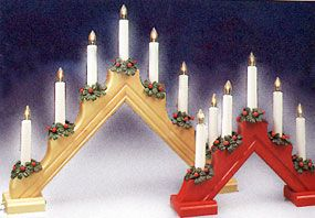 Swedish Electric 5 Light And 7 Light Candelabras Scandinavian Gift Candelabra Christmas Magic