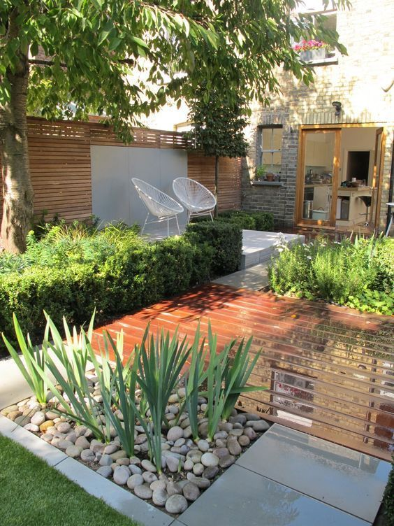 44 small backyard landscape designs to make yours perfect for Hard landscaping ideas