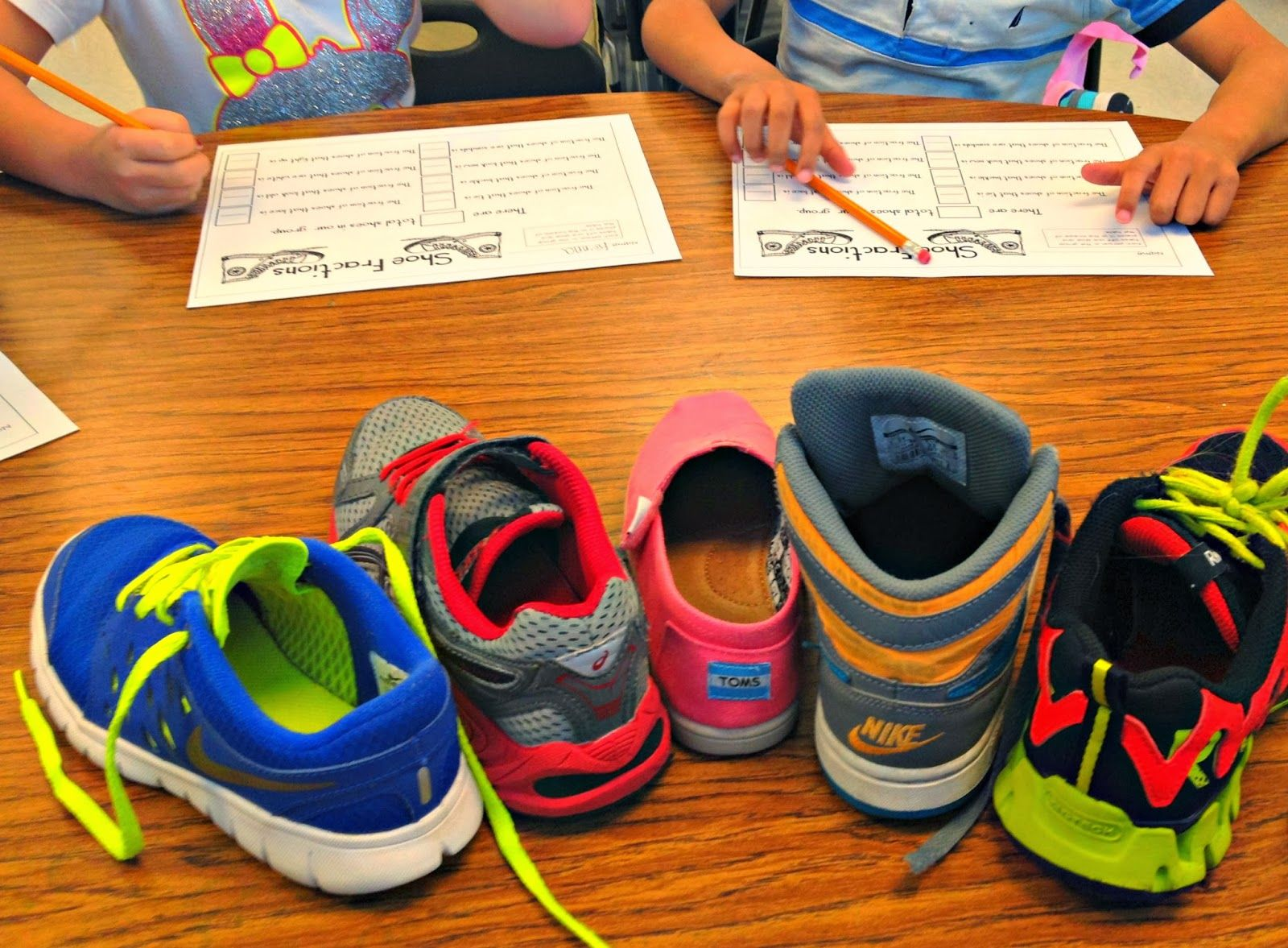 Take Off One Shoe R Fractions Fraction Printable Activities