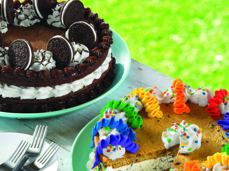 Baskin robbins new cookie cakes are literally giant ice