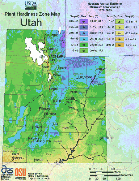 Utah Planting Zones Usda Map Of Utah Growing Zones Planting Zones Map Vegetable Planting Calendar Utah Climate