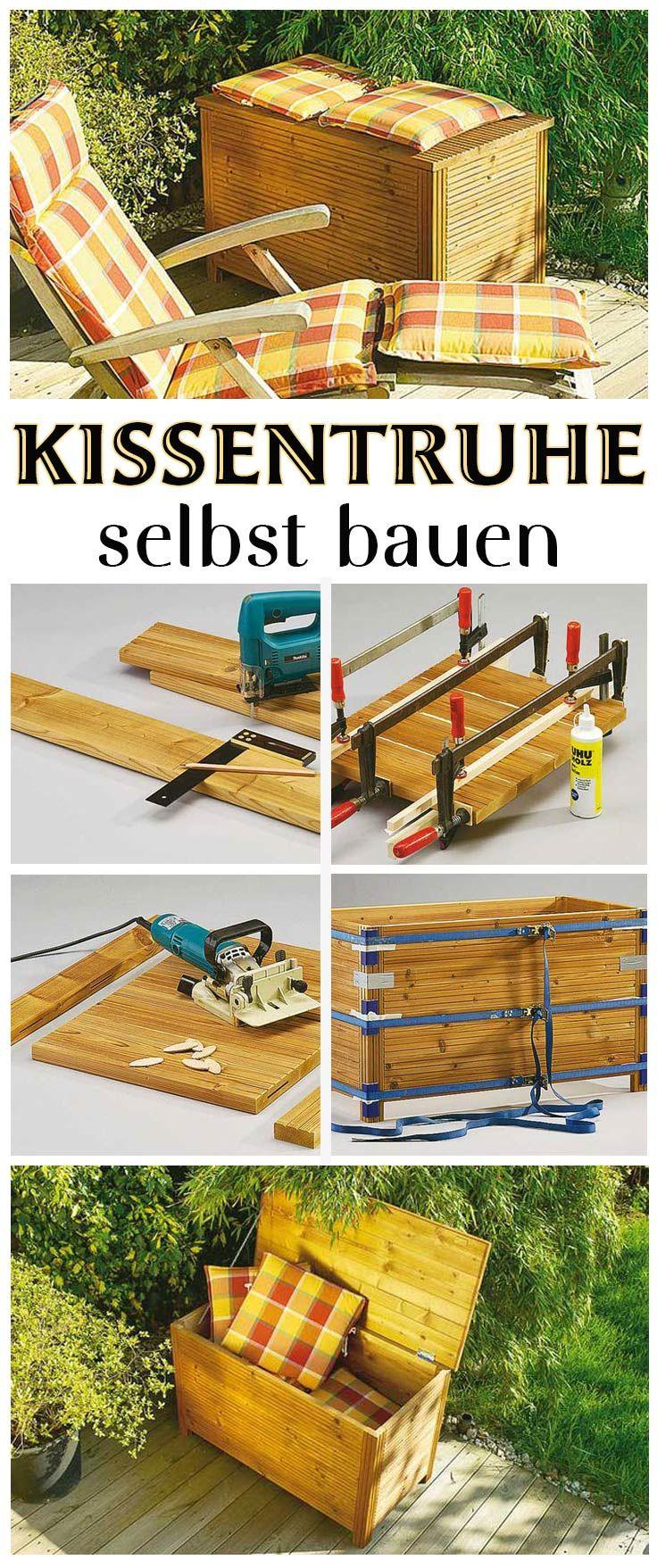 Holztruhe Bauen Projects Kissentruhe Aufbewahrung Garten Und