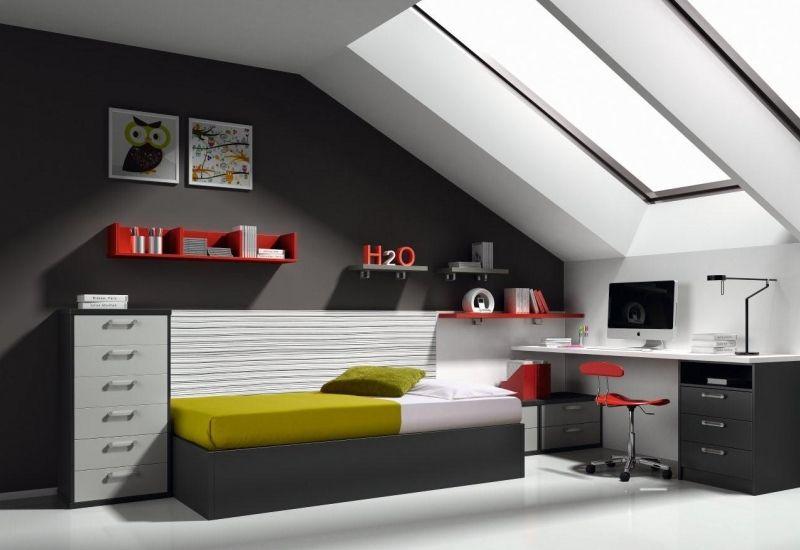 dormitorio juvenil canapé a medida buhardilla www.moblestatat.com ...