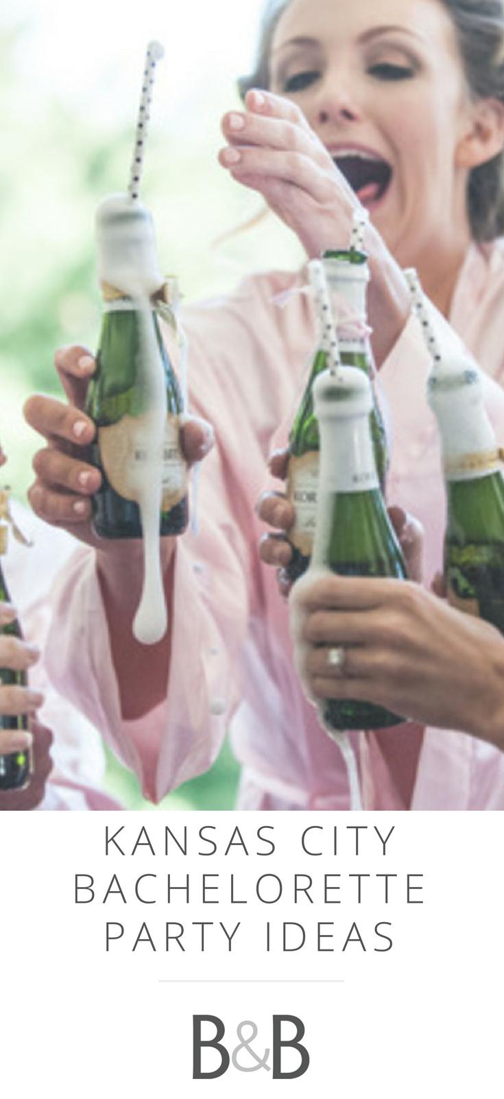 kansas city bachelorette party ideas | mini champagne bottles, mini