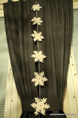 lumihiutale-koriste virkattu