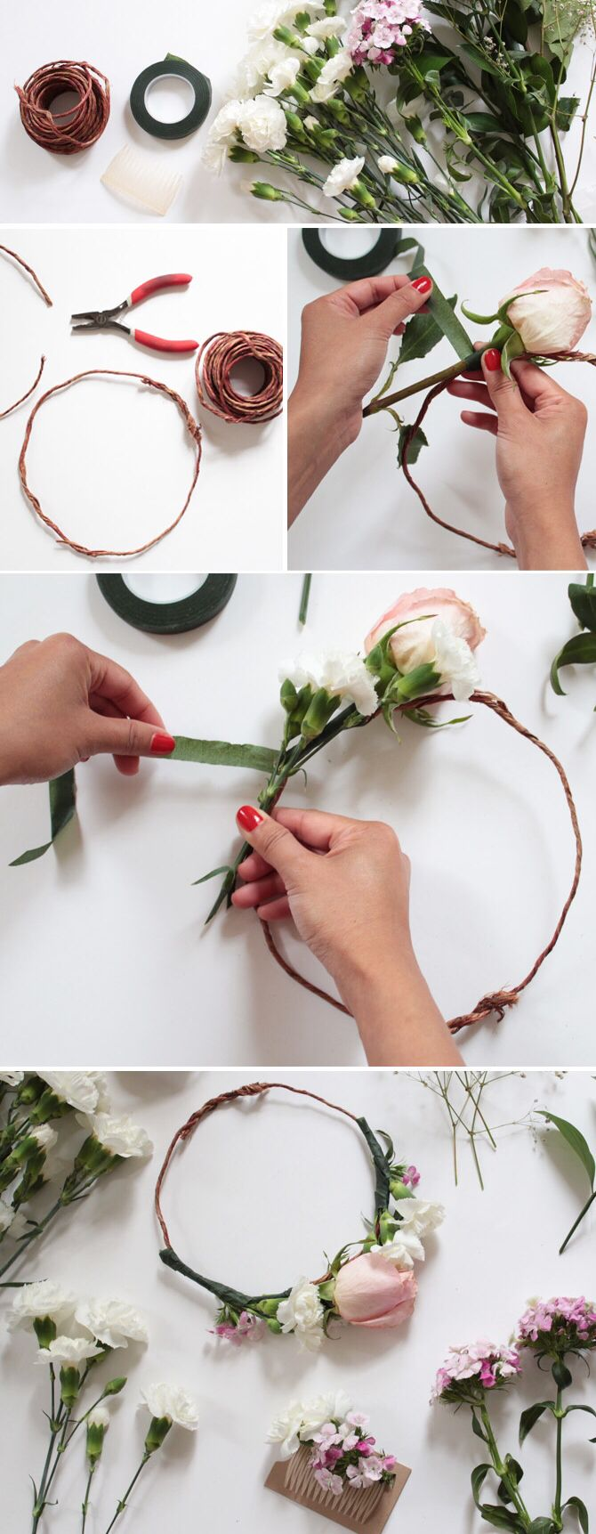 Pin By Woodie Sprague On Craft Ideas Pinterest Diy Flower Crown