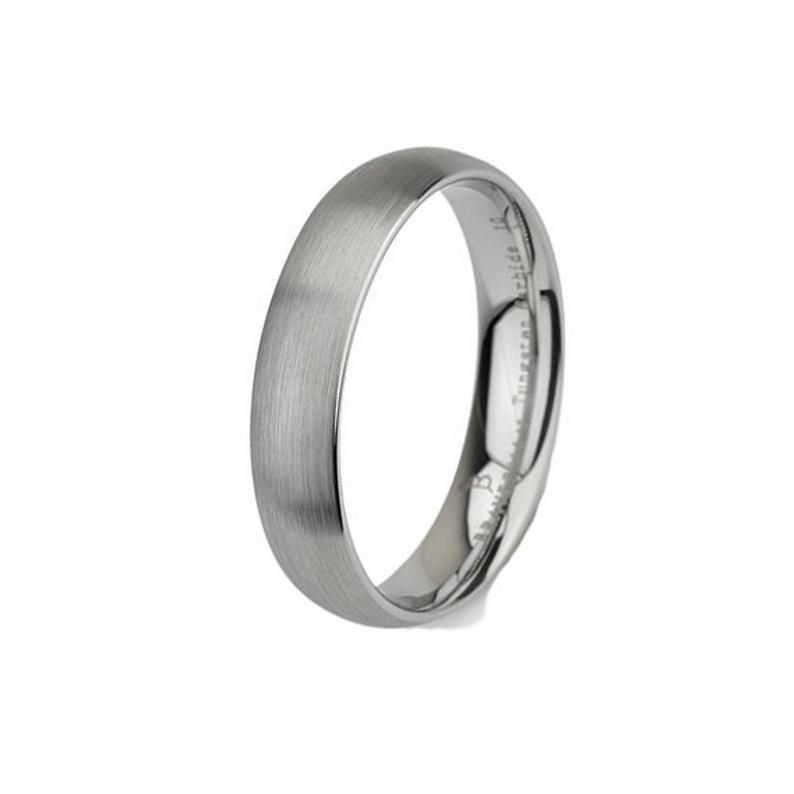 Tungsten Wedding Ring Dome Shaped Brushed Mens Wedding Band Etsy Mens Wedding Bands Brushed Tungsten Wedding Rings Tungsten Wedding Bands
