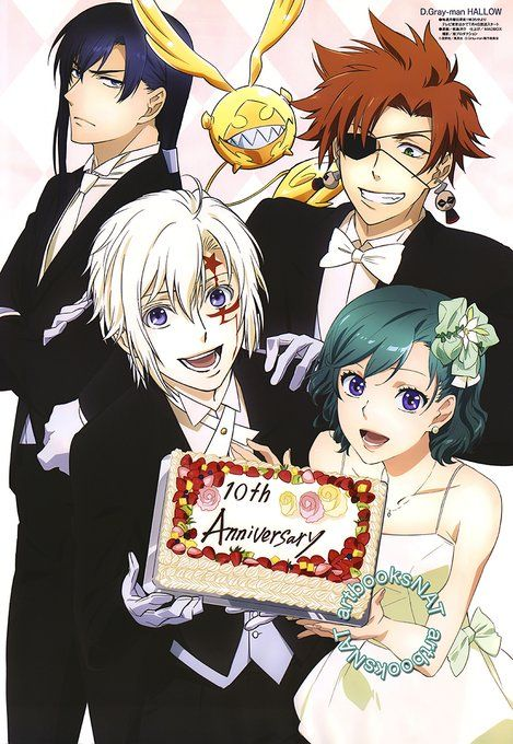 D.Gray-man HALLOW posters in Animedia this month, illustrated by CD Yousuke Kabashima for anime 10th Anniversary! https://t.co/fJKbjxCUTj