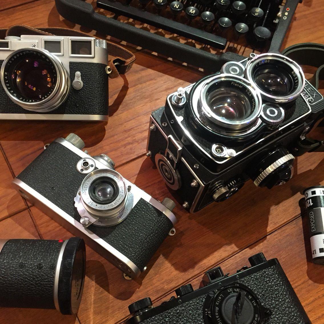 Leica Rolleiflex, all film