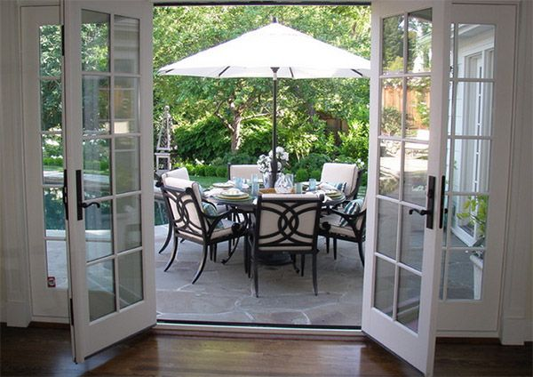 35 Gorgeous French Doors To Open Up Your Space French Doors Patio Patio Doors Dining Room French