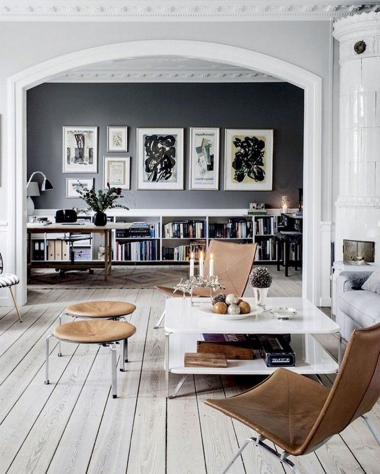 45 Amazing Scandinavian Ideas For Your Home Library Scandinavian Idea Brown And Blue Living Room Living Room Scandinavian Scandinavian Minimalist Living Room