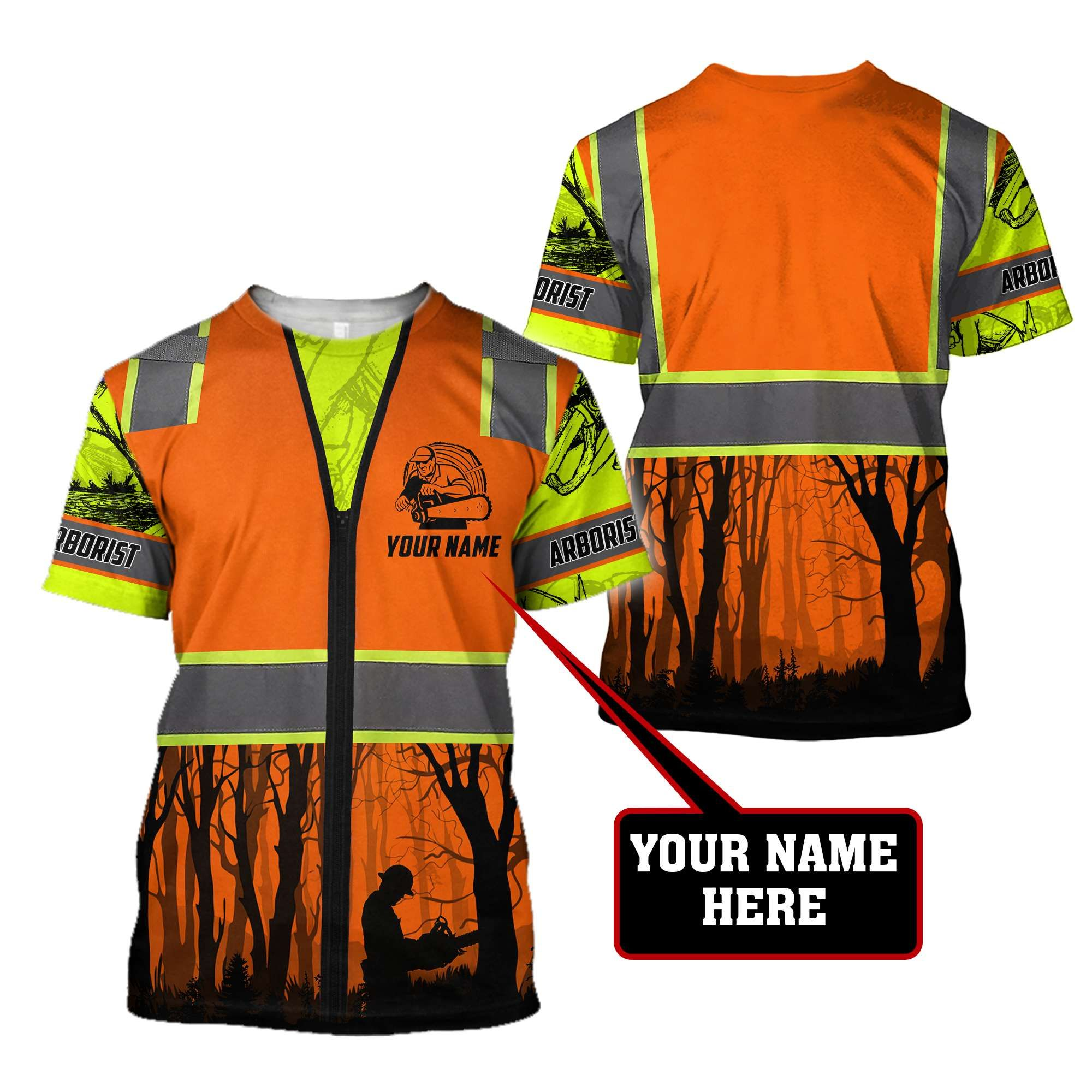 Premium Personalized 3D Printed Arborist Safety MEI - T-Shirt / 3XL