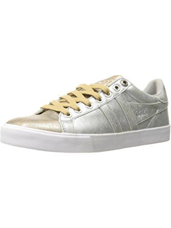 Gola Women's Orchid Super Metallic Fashion Sneaker, Silver/Gold, 9 M US ❤