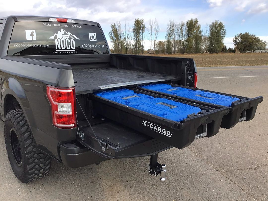 Decked Truck Bed Storage System With Decked Dbox And Crossbox