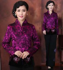 purple two style collar  Chinese Women's embroidery evening Jacket/Coat