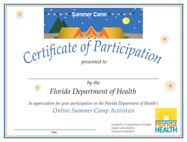 Summer Camp Certificate Template 4 Best Templates Ideas For You Best Templates Ideas For You Di 2020