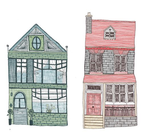 Houses Illustration By Eilidh Muldoon