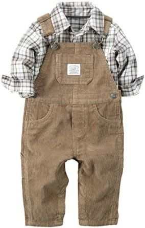 a67dcee20ad Amazon.com  Carter s Baby Boys  2 Piece Overall Set-Khaki  Clothing ...