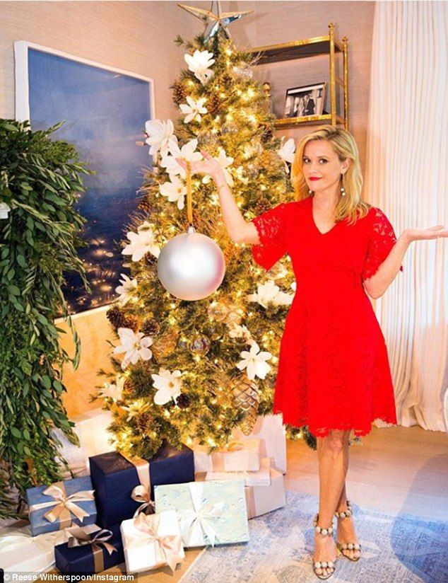 deck the halls reese witherspoon showed off her christmas tree in los angeles on wednesda - Christmas Shows Tonight