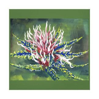 A Happy Little Bud #1 - Canvas Stretched...macro, acrylic, painting, marijuana, vibrant, colors, legalized substance, Washington State...Category, Health & Anatomy, Medicine