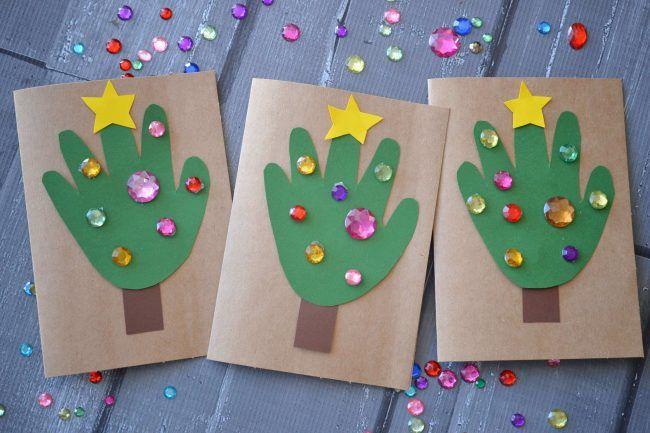 DIY Bastelideen für Weihnachtsbasteln mit Kindern, Geschenke selber machen, Grußkarte basteln, Karte selber machen (Christmas Kids)