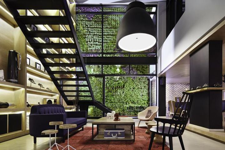 click clack hotel in bogota, columbia | designed by plan:b, Innenarchitektur ideen