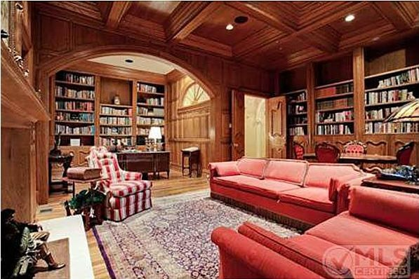 Library belonging to the late cosmetics queen Mary Kay Ash -- yep, it's pink!