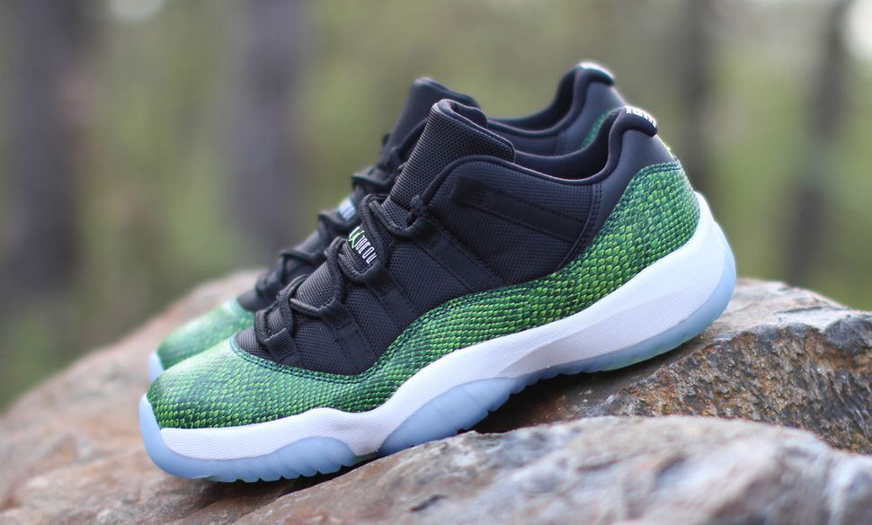e082cfd84a Releasing  Air Jordan 11 Retro Low  Green Snake  (Nightshade ...