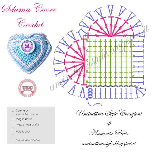 Rolly Softies] Cuore amigurumi, schema gratis | Schemi di cuore ... | 640x640