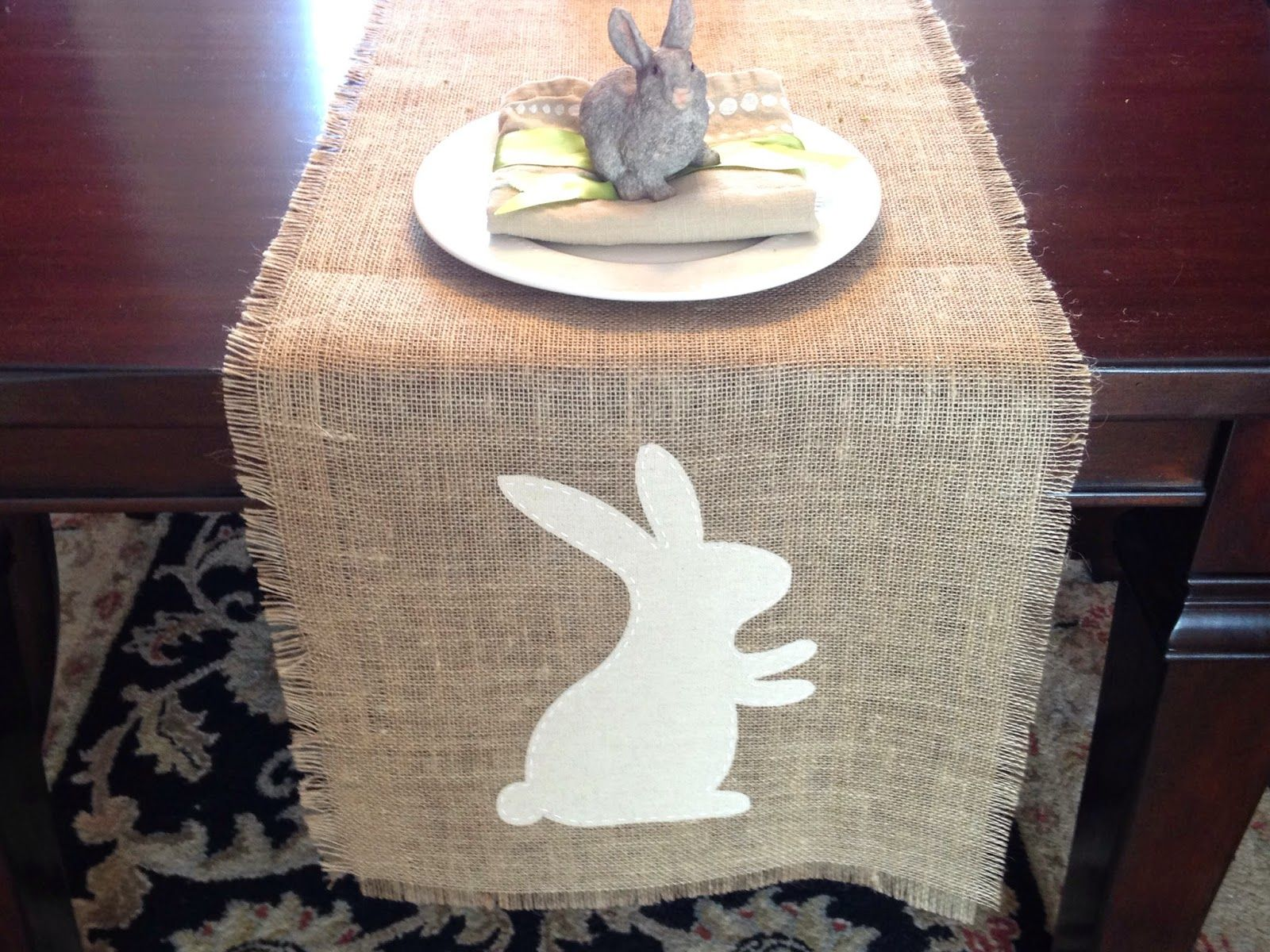 Silhouette Project Idea: Easter Bunny Table Runner (Pier 1 Knockoff)