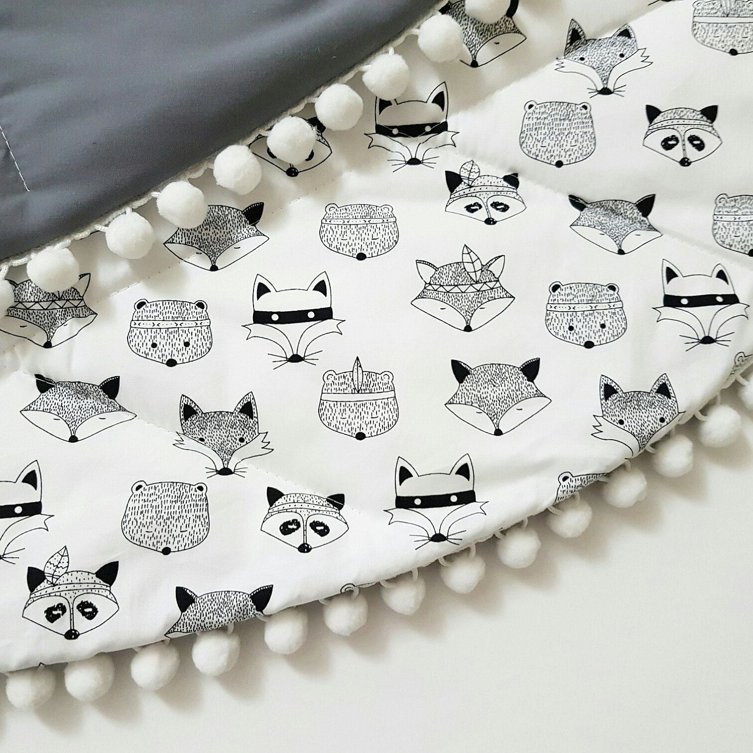 So on trend Monochrome Baby Play Mat