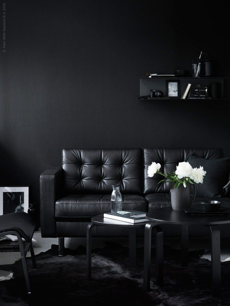 Black beauty | Black furniture, Black decor, Black rooms