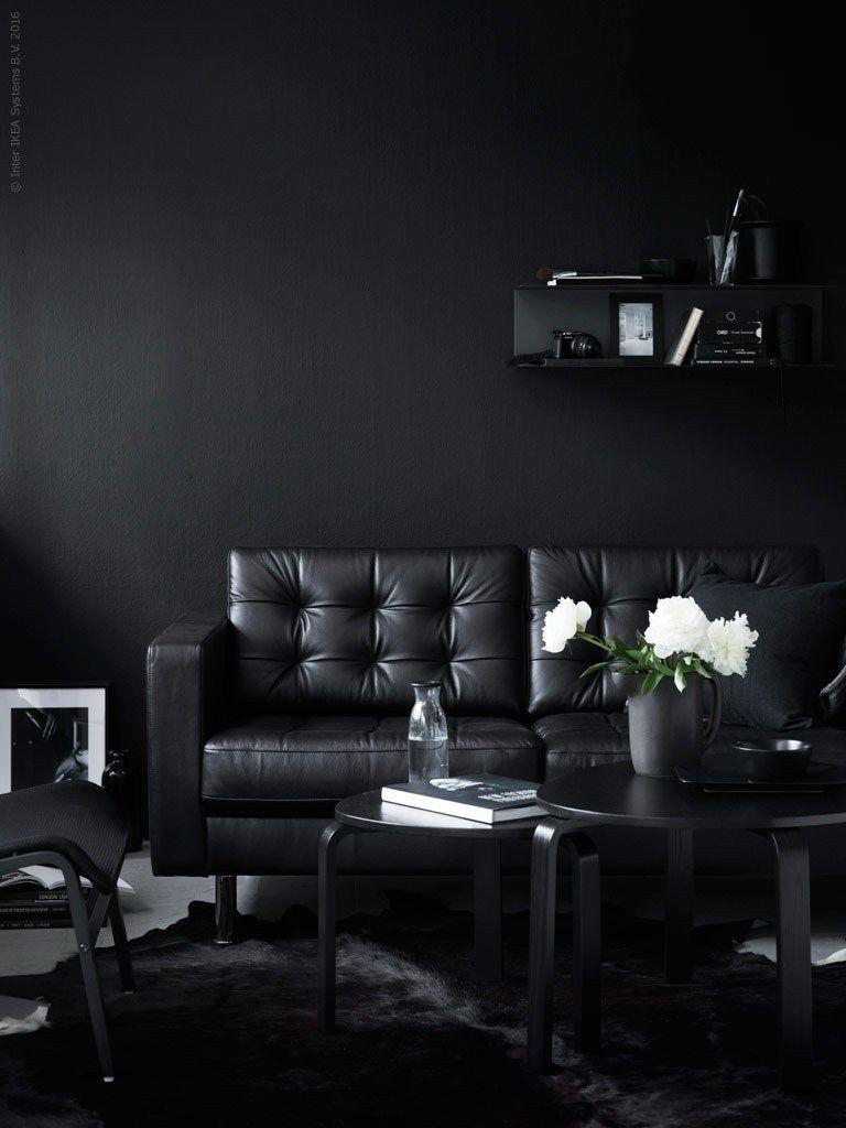 Black beauty | Black interior design, Black furniture, Black ...