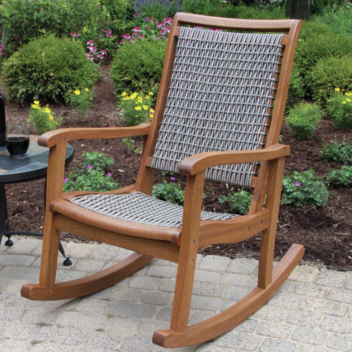 wayfair outdoor wooden rocking chair