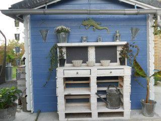 ein cooler pflanztisch aus paletten - selbst gebaut! | garten, Garten und Bauen