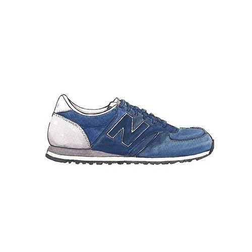 Good objects New Balance 420 Navy Suede Trainers