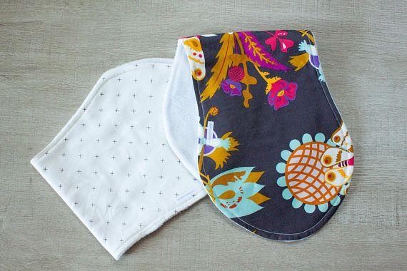 Floral and Checks | Baby Burp Cloth Set | Floral Nursery ...