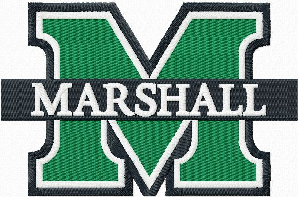 Marshall University Logo Embroidery Design Embroidery Designs University Logo Sewing Embroidery Designs