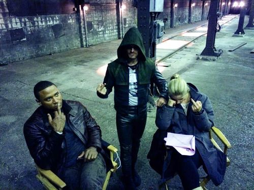 David Ramsey, Stephen Amell & Emily Bett Rickards