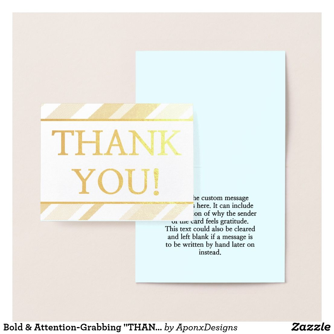 Bold Attention Grabbing Thank You Card Zazzle Com Thank You Cards Appreciation Cards Cards