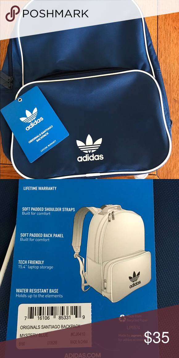5901734d2d10 Brand new blue Adidas backpack Perfect condition with tags attached! adidas  Bags Backpacks