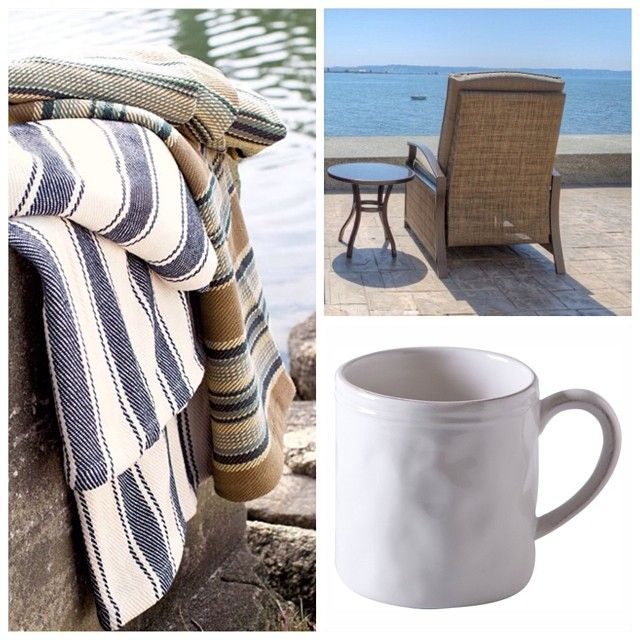 With Father's Day right around the corner, nothing's better than the gift of time and relaxation.  I've always been drawn to these Dash and Albert throws, perfect for curling up in a chair with a cup of coffee and a view. What's your idea of the perfect Father's Day gift? ~Anneke @Anneke {this, that & life}