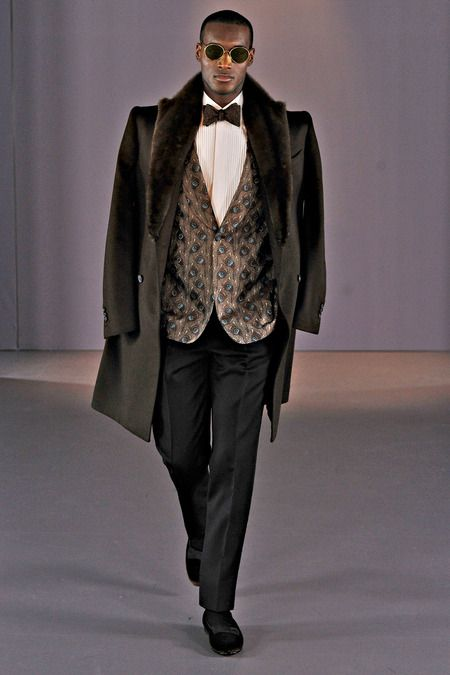 Dapper Panther: Gieves & Hawkes Fall 2014.