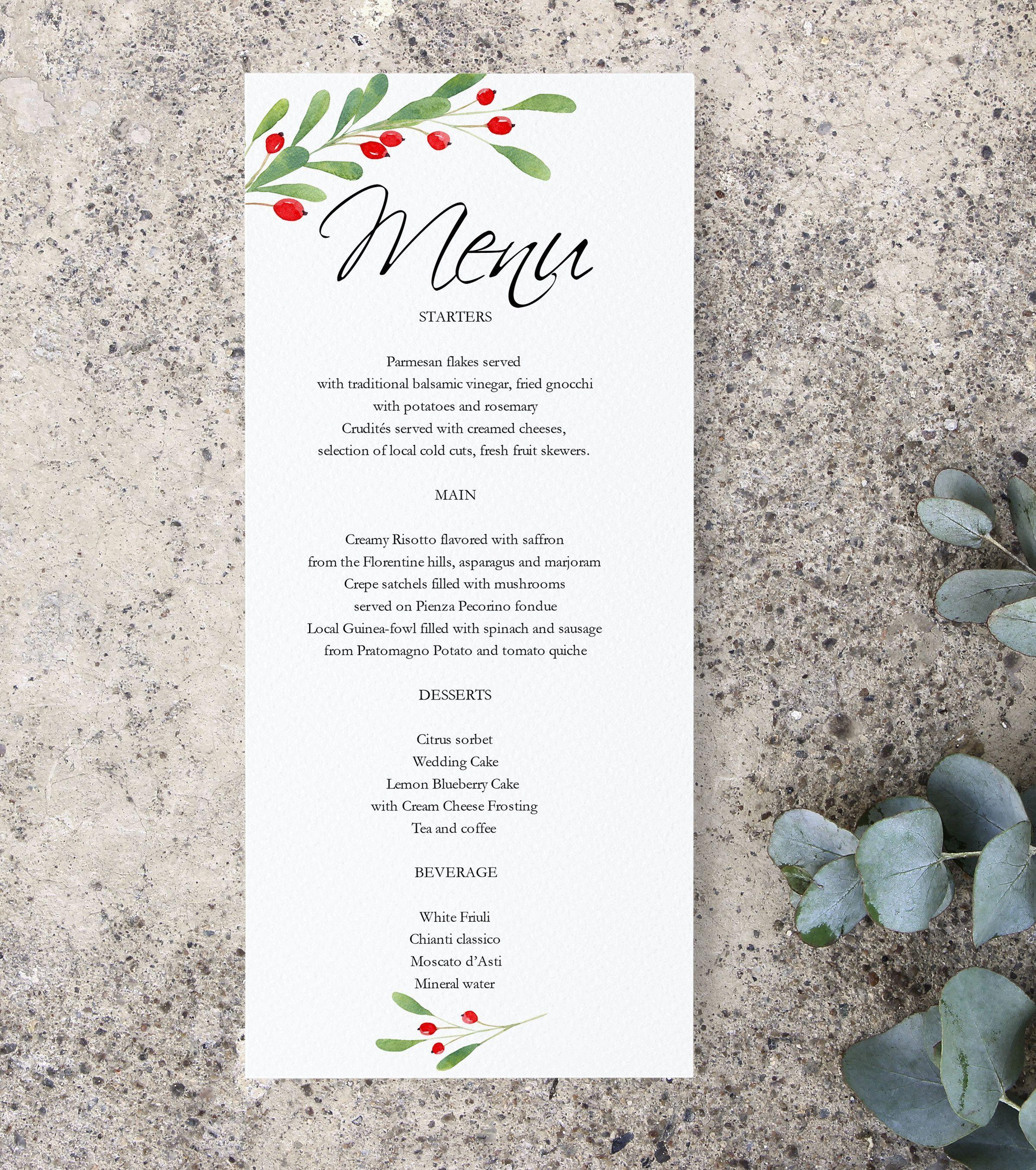 21 Dinner Menu Card Free Printable Menu Card Template Wedding Menu Cards Menu Cards