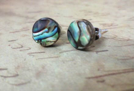 Abalone Stud Earrings Natural Paua S Post