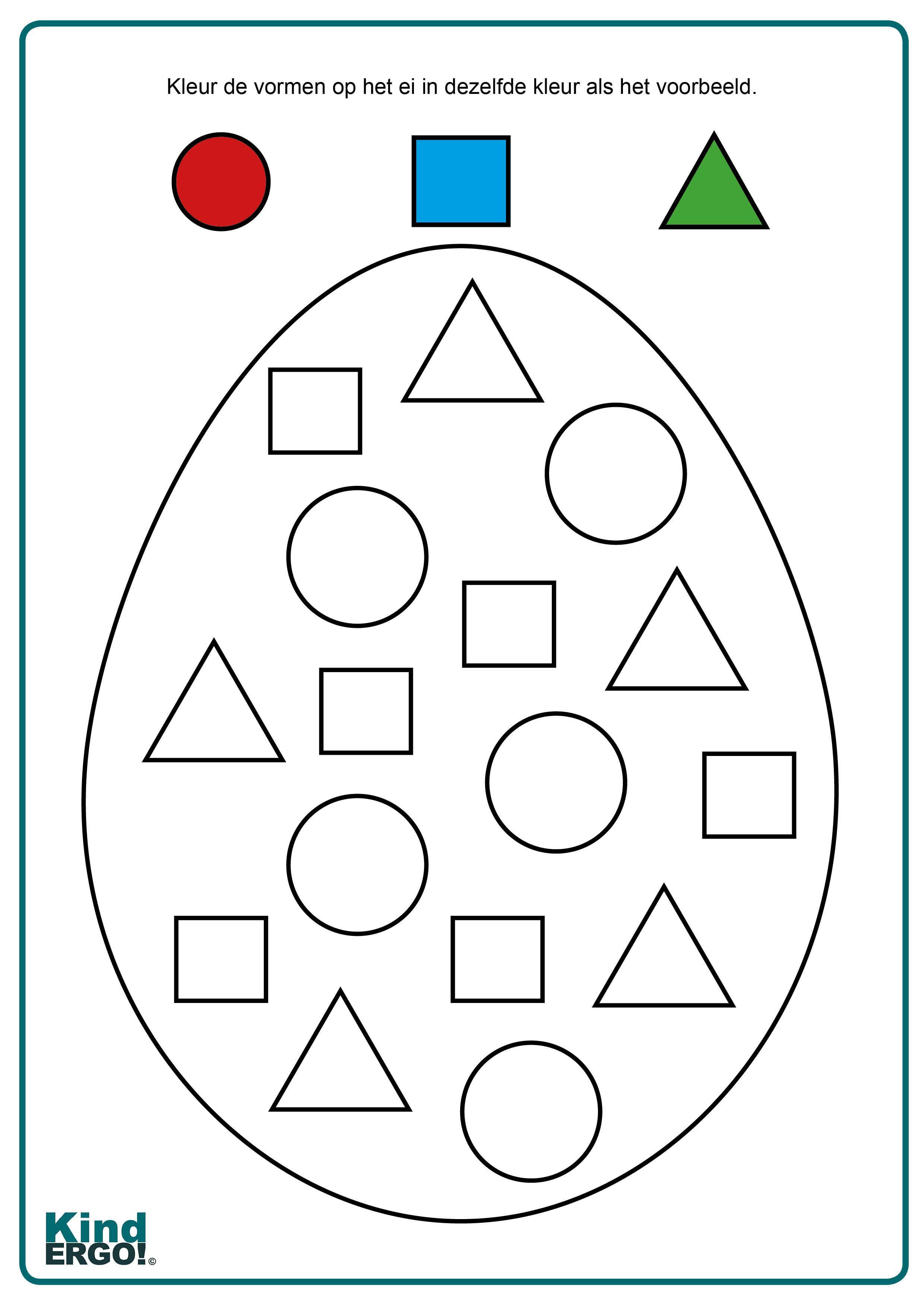 Ei Vormen Inkleuren In 2021 Easter Activities For Kids Easter Activities Craft Activities For Kids