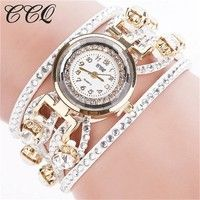 Wish | Fashion Relojes Mujer Women Bracelet Watches Watched Luxury Women Full Crystal Wrist Watch
