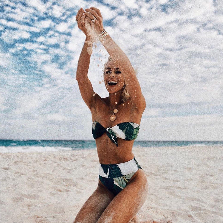 abb14af6bd47b Free Shipping Halloween Sale and extra 15% OFF 2 bikinis peplum bikini top bandeau  bathing suits tropical swim bandeau bow tie bikini bandeaus bandue