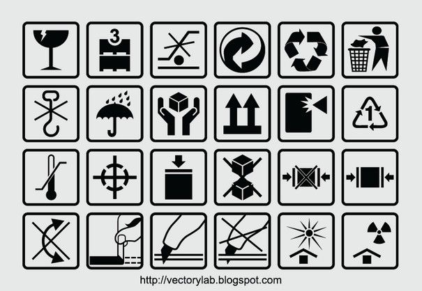 Packaging Box Symbols Eps File Arrow Box Box Markings Box